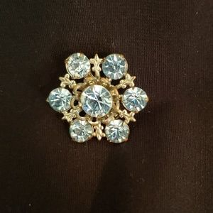 Jewelry - Light Blue Rhinestone Brooch